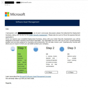 microsoft software asset management review ignore this destination - Ask here!